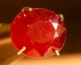 CERT 2.30 CTS FACETED CUT RED RUBY  11 806