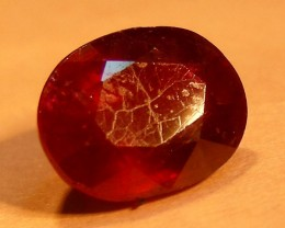 CERT 2.10 CTS FACETED CUT RED RUBY  11 809