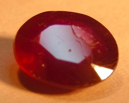 CERT 1.38 CTS FACETED CUT RED RUBY  11 811