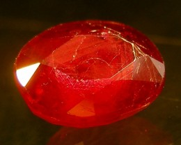 CERT 1.20 CTS FACETED CUT RED RUBY  11 820