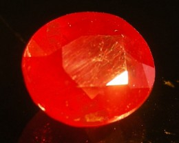 CERT 2.34 CTS FACETED CUT RED RUBY  11 825