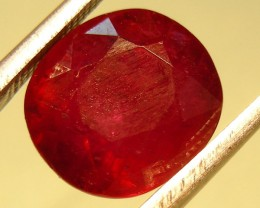 CERT 6.77 CTS FACETED CUT RED RUBY  11 830