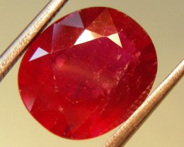 CERT 4.79 CTS FACETED CUT RED RUBY  11 831