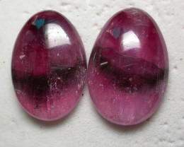 42.40 CTS  RED -STRIPED TOURMALINE  PAIR- [ST4000]