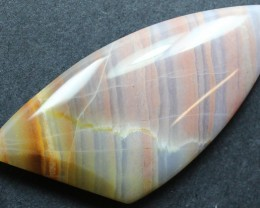 53.70 CTS BANDED AGATE CABOCHON STONE FROM OLD COLLECTION