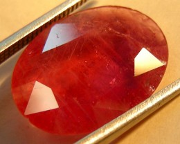CERT 4.90 CTS FACETED CUT RED RUBY  11 970