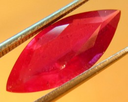 CERT 4.62 CTS FACETED CUT RED RUBY  11 977