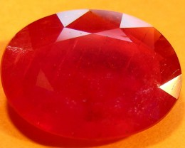 CERT 5.08 CTS FACETED CUT RED RUBY  11 981