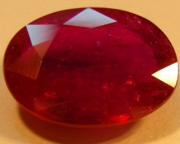 CERT 5.05 CTS FACETED CUT RED RUBY  11 985