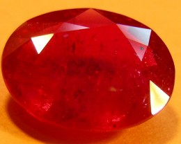 CERT 4.90 CTS FACETED CUT RED RUBY  11 986