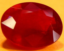 CERT 4.37 CTS FACETED CUT RED RUBY  11 987