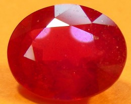 CERT 4.08 CTS FACETED CUT RED RUBY  11 989