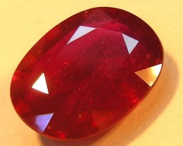 CERT 4.65 CTS FACETED CUT RED RUBY  11 990
