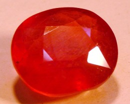 CERT 12.5 CTS FACETED RASPBERRY RED RUBY  11 995