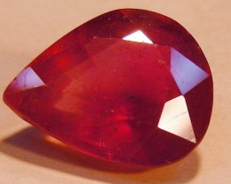 CERT 8.43 CTS FACETED RASPBERRY RED RUBY  11 997