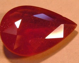 CERT 6.72 CTS FACETED RASPBERRY RED RUBY  11 1004
