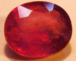 CERT 6.61 CTS FACETED RASPBERRY RED RUBY  11 1011