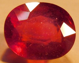 CERT 14.29 CTS FACETED RASPBERRY RED RUBY  11 1015