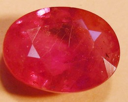CERT 3.60 CTS FACETED RASPBERRY RED RUBY  11 1019