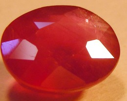 CERT 3.79 CTS FACETED RASPBERRY RED RUBY  11 1022