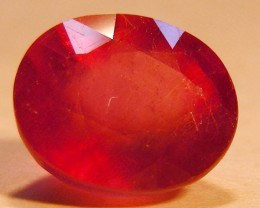 CERT 5.15 CTS FACETED RASPBERRY RED RUBY  11 1023