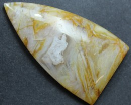 38.00 CTS SAGENITE AGATE CABOCHON STONE FROM OLD COLLECTION