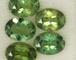 6.20 CTS PARCEL OF 5 NATURAL APATTIE - YELLOW GREEN [SB645]