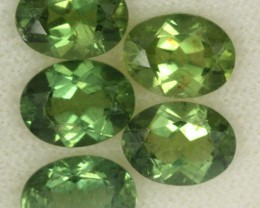 5.95 CTS PARCEL OF 5 NATURAL APATTIE - YELLOW GREEN [SB646]