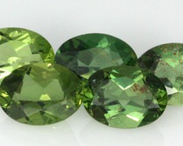 5.94 CTS PARCEL OF 5 NATURAL APATTIE - YELLOW GREEN [SB648]