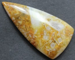 28.25 CTS SAGENITE AGATE CABOCHON STONE FROM OLD COLLECTION