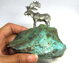 1400 CTS CHRYSOCOLLA STONES WITH MOOSE   MYGS 193
