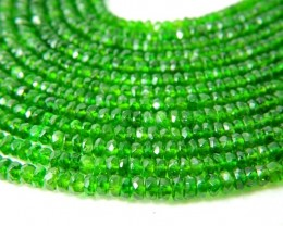 100% Natural Russia Chrome Diopside Faceted Beads J74