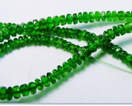 100% Natural Russia Chrome Diopside Faceted Beads J75