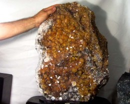 44 KILO MASSIVE GOLDEN CALCITE SPECIMEN