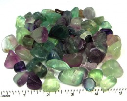 400 GRAMS TUMBLED   NATURAL  FLUORITE STONES MS1509