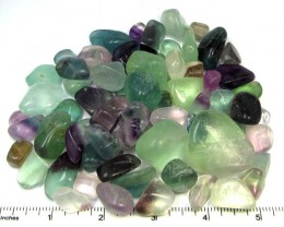 400 GRAMS TUMBLED   NATURAL  FLUORITE STONES MS1511