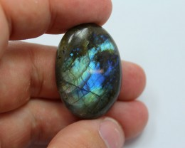 GREAT LARGE OVAL CUT CABOCHON STONE