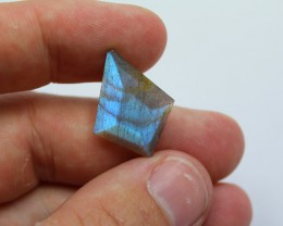 TOP FACETED LABRADORITE GREAT COLOR ON BOTH SIDES