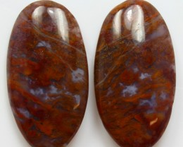 37.25 CTS MT MAURY AGATE PAIR