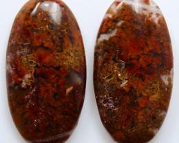 38.50 CTS MT MAURY AGATE PAIR OF STONES