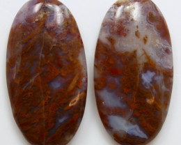 40.50 CTS MT MAURY AGATE PAIR OF STONES