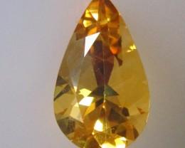 3.26ct Golden Yellow Citrine Pear Shape