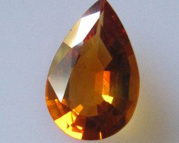 2.23cts Maderia Colour Citrine, Pear Shape