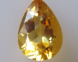 2.17cts Golden Yellow Citrine Pear Shape