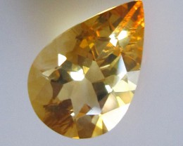 3.36cts Golden Yellow Citrine Pear Shape