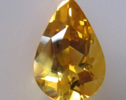 3.39cts Golden Yellow Citrine Pear Shape