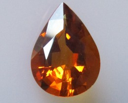2.56cts Maderia Colour Citrine, Pear Shape