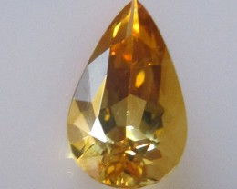 1.96cts Golden Yellow Citrine Pear Shape