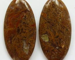 13.45 CTS MT MAURY AGATE PAIR OF STONES