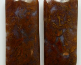 37.05 CTS MT MAURY AGATE PAIR OF STONES